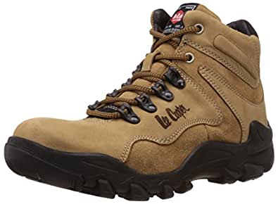 Lee Cooper Men's Camel Leather Trekking and Hiking Boots - 11 UK