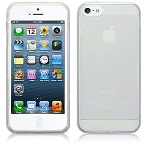 Coque Silicone transparente pour Apple Iphone 5 + 2 Films OFFERTS !!