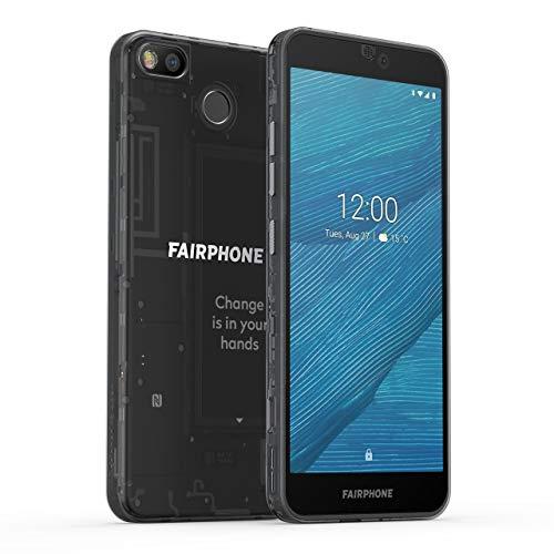 fairphone 3 dual-sim 4gb/64gb dark translucent android 9.0 smartphone