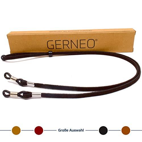 GERNEO GERNEO - DAS ORIGINAL - Premium Brillenband in hochwertiger Wildlederoptik - schwarz - für Lesebrille & Sonnenbrille