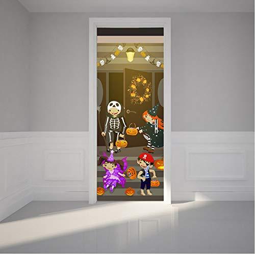 leber Halloween Party PVC wasserdichte Wand Poster Für Wohnzimmer Schlafzimmer Wandkunst Wohnkultur Wandaufkleber 77X200 cm ()