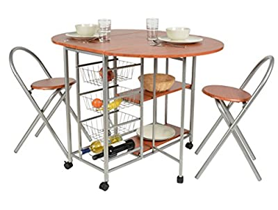 Three-piece dining set aluminum and wood fiber walnut appearance ensemble set table chairs kitchen