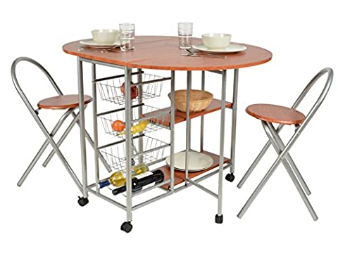 Three-piece diningsetaluminum and wood fiber walnut appearance ensemble set table