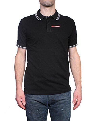 PRADA - Herren Polo Slim Fit SJJ887 - schwarz, M (Prada Herren Shirt)