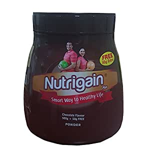 Ayurwin Nutrigain Plus chocolate flavour (500 Grams)+Free 50g Extra
