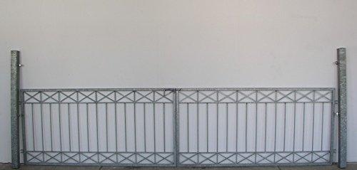 Gartentor Hoftor Tor Crossline-FT400/80R Verzinkt