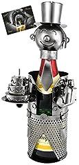 Idea Regalo - Brubaker Portabottiglie per Spumante o Champagne - Scultura in Metallo per Compleanno con Carta Regalo