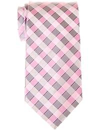Retreez Classic Check Woven Microfiber Men's Tie Necktie - Various Colors