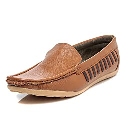 TEN Synthetic Tan Loafers