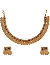 Ganapathy Gems 1Gram Gold Plated Lakshmi Coin Necklace Set (7342) 7342