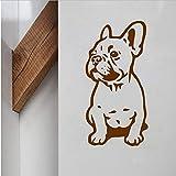 Französisch Bulldog Wand Vinyl Hund Schöne Wandtattoos Für Haus Lilving Zimmer/Auto Dekoration Tier Kunst Dekoration 28X14 cm
