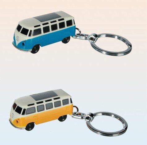 Preisvergleich Produktbild VW Bulli T1 Schlüsselanhänger mit LED Taschenlampe - Volkswagen T1 Schlüssel Ring VW Bus Schlüsselring LED mit LED Taschenlampe