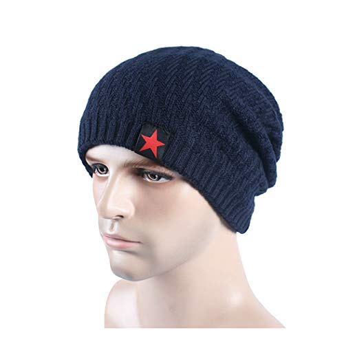 DAMENGXIANG Herbst Winter Stricken Outdoor Warm Cap Männer Freizeit Mode Pentagramm Hip H