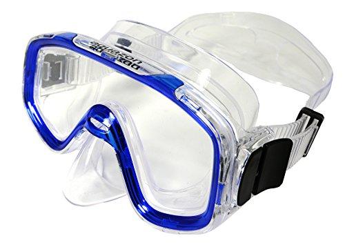 Aquazon Kinder Taucherbrille, Tauchmaske, Tauchermaske Fun, für 3-7 Jahre, blau transparent