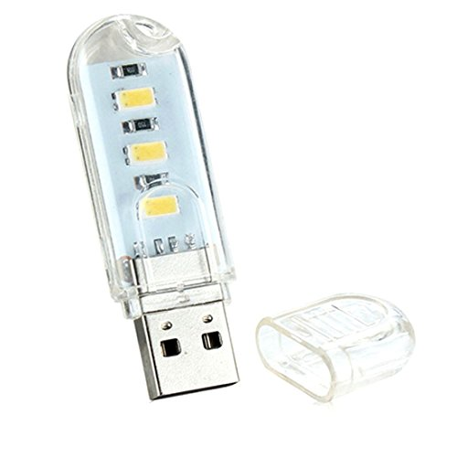 Snner Portable USB Nachtlicht Mini LED Lampe Tastatur Computer Schreibtisch Lampen Außen Warmweiß -