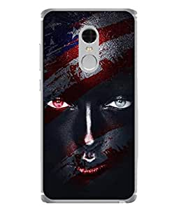 Fuson Designer Back Case Cover for Xiaomi Redmi Note :: Xiaomi Redmi Note 3G :: Xiaomi Redmi Note Prime (Girl Face Painted Face Colourful Red Eyes Black Eyes)