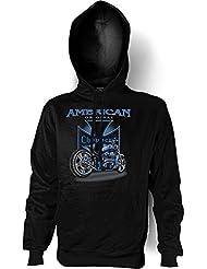 Biker & Motorrad Kapuzen Sweatshirt: American original Choppers