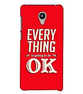 Fuson Designer Back Case Cover for YU Yunicorn :: YU Yunicorn YU5530 (Every thing is going to be ok)