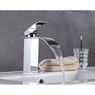Wasserfall Waschbecken Wasserhahn Moderne Becken Mischbatterie Einhand-einlochmontage