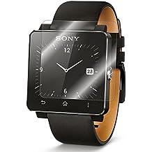 Protector de pantalla Cristal templado para Sony Smartwatch 2 Calidad HD, Grosor 0,3mm, Bordes redondeados 2,5D, alta resistencia a golpes 9H. No deja burbujas en la colocación (Incluye instrucciones y soporte en Español)