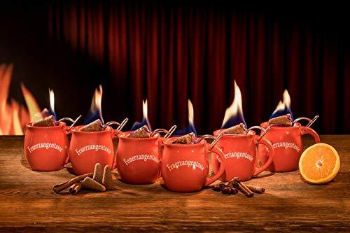 feuerzangenbowle glaeser Feuerzangentasse 6er im Karton, Weihnachtsrot