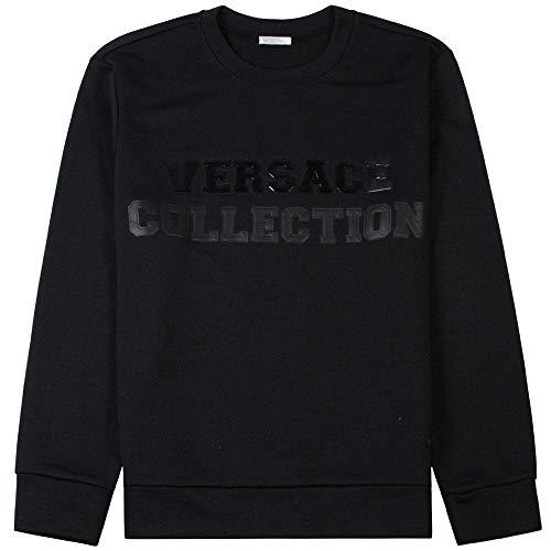 Versace Kollektion Grafik Logo Sweatshirt schwarz Large Black