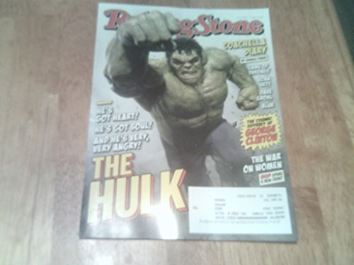 ne # 1234 May 7 2015 The Hulk Cover (Single Back Issue) with Coachella, George Clinton, Game of Thrones, Joan Jett, Dave Grohl, Blur, etc. by Rolling Stone Magazine ()