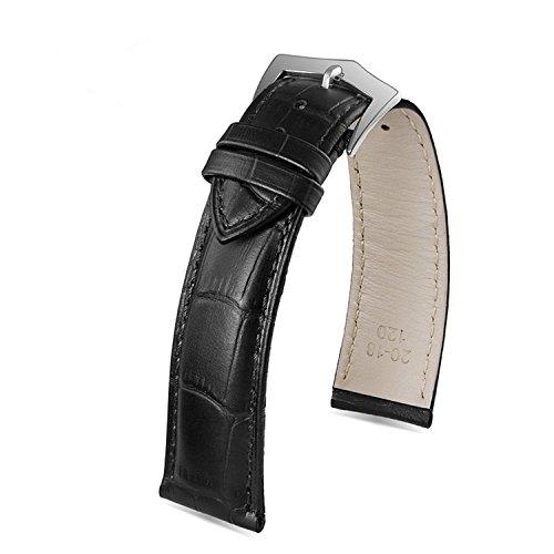 cinturino-in-pelle-24mm-degli-uomini-di-lusso-del-nero-per-grande-polso-genuina-primo-strato-in-pell