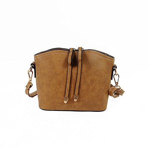 borsa a tracolla donne Moda YCMDM Borsa Il Nuovo PU Shell Bag Packet , light brown