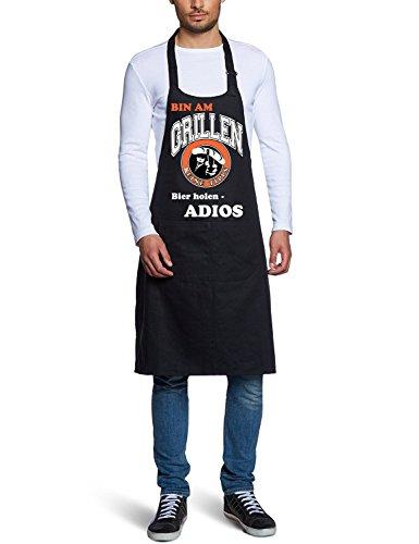 Coole-Fun-T-Shirts Poubelle am Grillen 10728 Men's Tablier Barbecue Noir (Import Allemagne)
