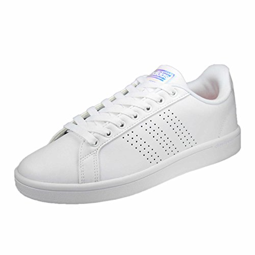 adidas Damen Cloudfoam Advantage Clean W Gymnastikschuhe, Bianco (Ftwbla/Ftwbla/Corneb), 38 EU (Damen Adidas Frühling)