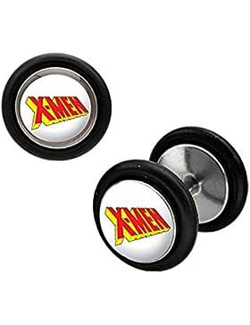 Marvel X-Men Stainless Steel Fake Plug Earrings