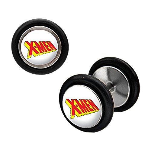 marvel-x-men-stainless-steel-fake-plug-earrings