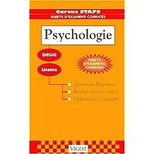 Sujets corrigés de psychologie