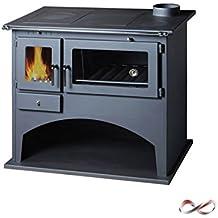 Cucina estufa de leña Folk superior, con horno