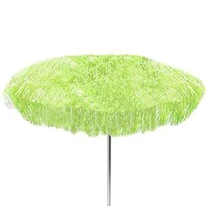 jan kurtz sonnenschirm mit fransen gr n d 200 cm h 150 cm hawaii bastschirm. Black Bedroom Furniture Sets. Home Design Ideas