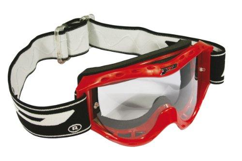 Progrip Kinder Motocross Brille Kid Line, Rot, Größe Universell für alle Kids