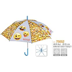 PERLETTI perletti7505248x 8cm Impreso Emoji Paraguas a Prueba de Viento