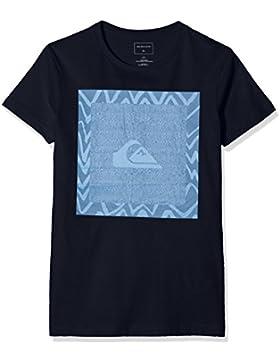 Quiksilver Classic Nano Spano Camiseta, Niños, Azul (Navy Blazer - Solid), XL/16
