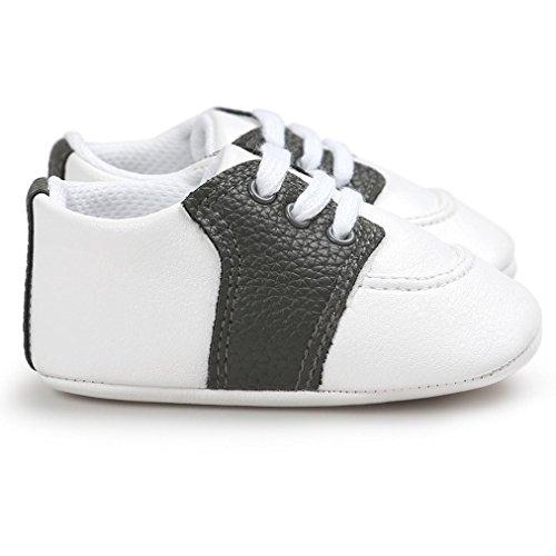 BZLine® Baby Kleinkind Weiche Sohle Schuhe Krippeschuhe Anti-Rutsch Sneaker Schwarz