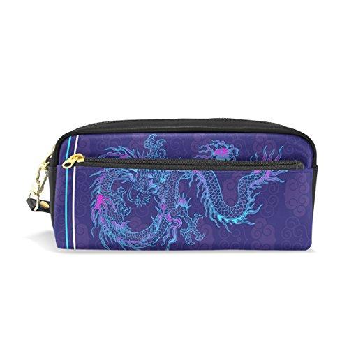 Bennigiry - Estuche de gran capacidad con diseño de dragón japonés para niños, estudiantes, bolígrafos, bolso, bolsa de viaje para la escuela y pequeña bolsa de cosméticos, color Multi#002 talla única