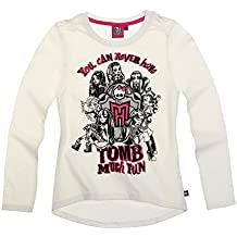 Monster High Fille Tee-shirt manches longues - crème