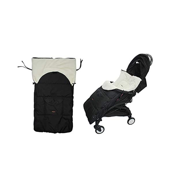 DENGHENG Baby Sleeping Bag Infant Winter Stroller Thick Warm Envelope Sleepsacks Footmuff DENGHENG ❤ Stroller Sleep Bag, Softly padded with warm fleece lining and extra quilting. ❤ 2 in 1 - Removable front unzips, easily converting to a comfy Seat liner ❤ Can Also be used as a Padded Pushchair or Buggy Liner- ideal for the summer months 1
