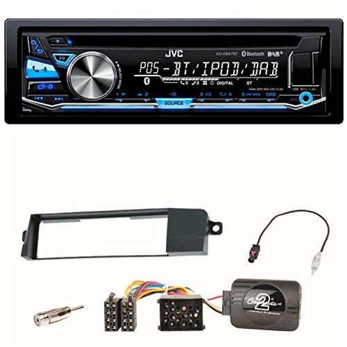 JVC KD-DB97BT MP3 Radio RDS USB DAB+ CD Autoradio Einbauset für BMW E46