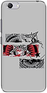 The Racoon Lean printed designer hard back mobile phone case cover for Vivo Y53. (Back in St)