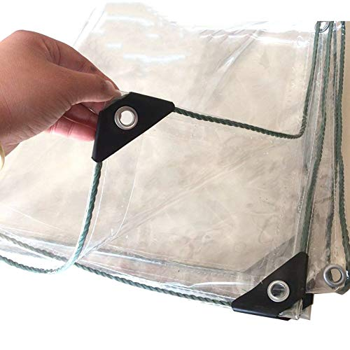 LXF Lona impermeable transparente, tela de plástico transparente transparente de aislamiento de efecto invernadero, toldo para plantas con balcón, tela impermeable 500G / M² (Tamaño : 1Mx4M)