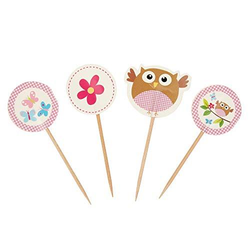 Neviti Little Owls Deko-Picks, Pink