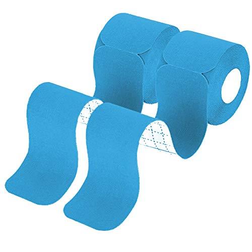 ShenVenga Kinesiologie Tape Blau - 2 Rollen Vorgeschnitten Kinesiotapes