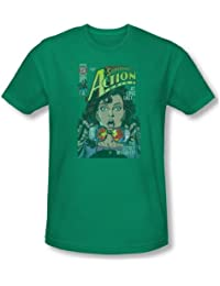 Superman - Secret T-shirt Revealved hommes en vert de Kelly -