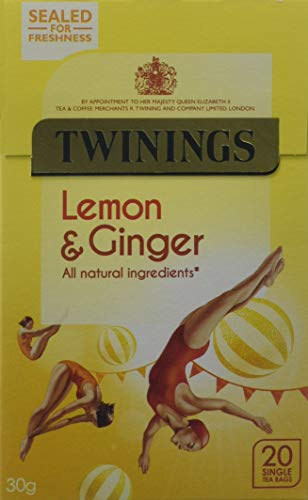 Twinings Lemon and Ginger Tea Bags , Pack of 4